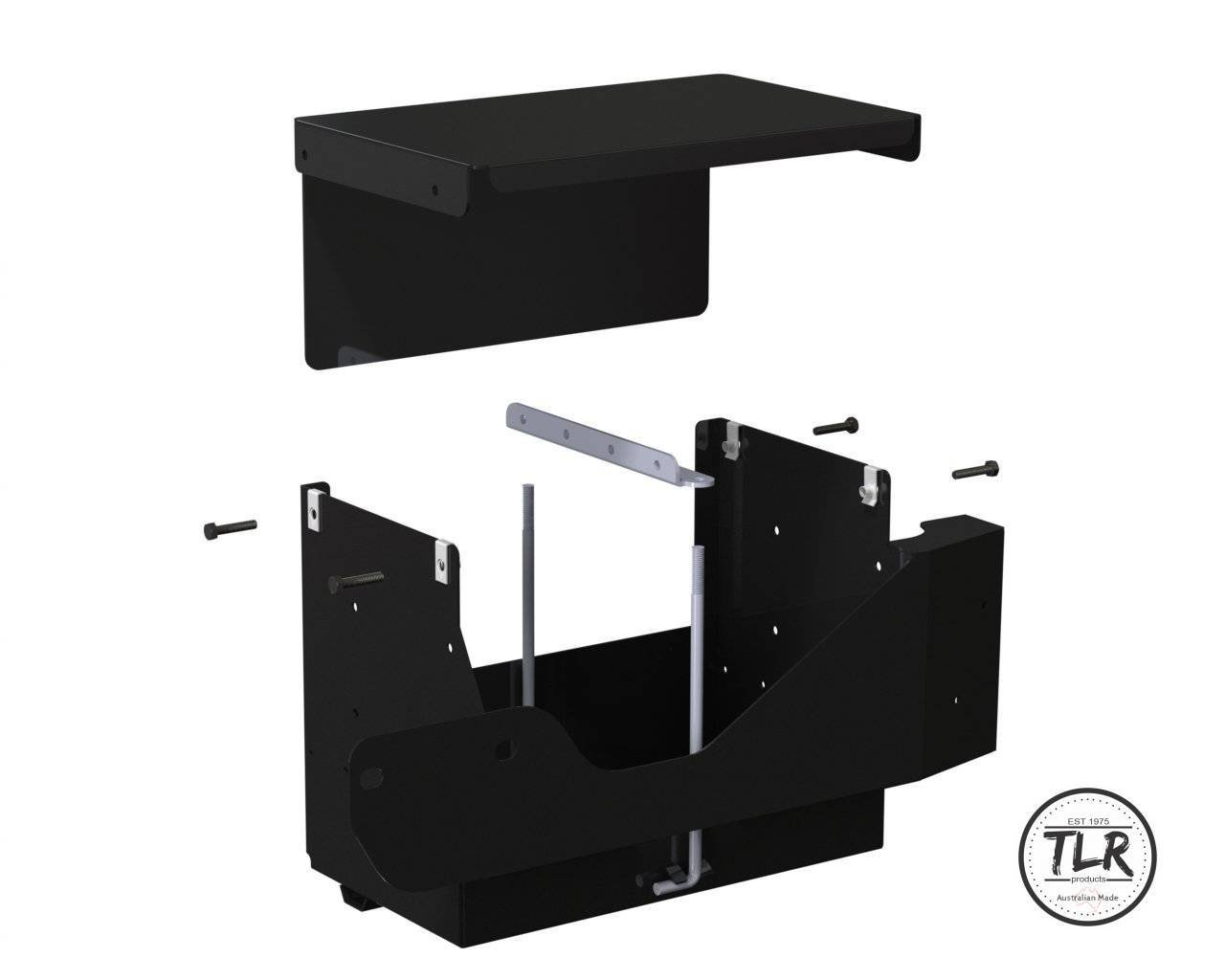 12″ BATTERY BOX LHSR MOUNT TO SUIT FORD RANGER & MAZDA BT-50
