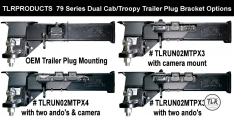 78 SERIES TROOPY MULTI TRAILER PLUG BRACKET ( 3 PLUG ) TO SUIT TOYOTA LANDCRUISER